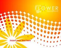 Vector de lenteillustratie met bloem Royalty-vrije Stock Afbeelding
