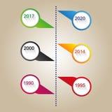 Vector de lijnmalplaatje van de kleuren modern tijd Royalty-vrije Stock Afbeelding
