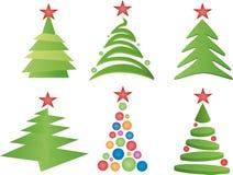 Vector de los árboles de navidad imagenes de archivo