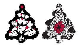 Vector de los árboles de navidad de Grunge Foto de archivo libre de regalías