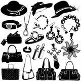 Vector de los accesorios de las mujeres Fotografía de archivo libre de regalías