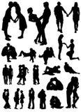 Vector de los amantes Fotografía de archivo libre de regalías