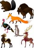 Vector de los animales de la historieta Imágenes de archivo libres de regalías
