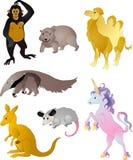 Vector de los animales de la historieta Imagen de archivo libre de regalías