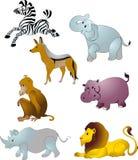 Vector de los animales de la historieta Fotos de archivo