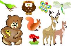 Vector de los animales de la historieta Imagen de archivo