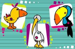 Vector de los animales de la historieta Fotografía de archivo