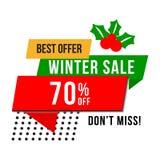 Vector de los anuncios de la promoción de venta de la tienda de la Navidad libre illustration