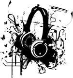 Vector de los auriculares Fotos de archivo