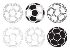 Vector de los balones de fútbol Imagen de archivo libre de regalías
