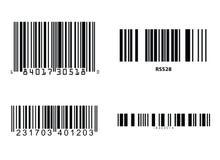 Vector de los códigos de barras Imagenes de archivo