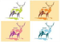 Vector de los ciervos Fotografía de archivo