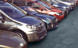 Vector de los coches Fotografía de archivo libre de regalías