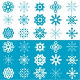 Vector de los copos de nieve fotos de archivo libres de regalías