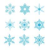 Vector de los copos de nieve Fotografía de archivo libre de regalías