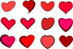 Vector de los corazones Foto de archivo libre de regalías