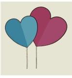 Vector de los corazones de los pares ilustración del vector