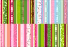 Vector de los diseños de las rayas Imagen de archivo