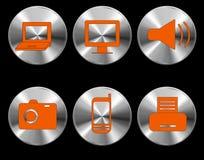 Vector 1 1 de los dispositivos del icono Imágenes de archivo libres de regalías
