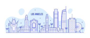 Vector de los edificios de la ciudad de los E.E.U.U. del horizonte de Los Ángeles libre illustration