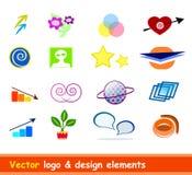 Vector de los elementos de la insignia y del diseño Fotos de archivo libres de regalías