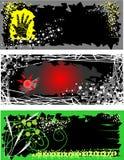 Vector de los flayers de Grunge Fotos de archivo libres de regalías