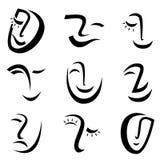 Vector de los gráficos de la cara stock de ilustración