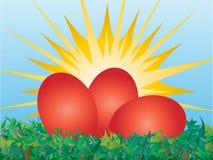 Vector de los huevos de Pascua Foto de archivo libre de regalías