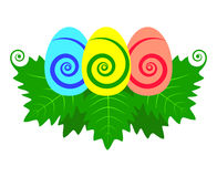 Vector de los huevos de Pascua aislado Imagen de archivo libre de regalías
