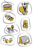 Vector de los iconos Imagen de archivo libre de regalías