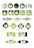 Vector de los iconos de la bola Fotografía de archivo libre de regalías