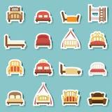 Vector de los iconos de la cama stock de ilustración