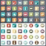 Vector de los iconos de la comida enlatada Fotos de archivo libres de regalías