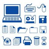 Vector de los iconos de la tecnología de los accesorios de ordenador Imagenes de archivo