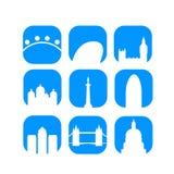 Vector de los iconos de las señales de Londres Fotografía de archivo