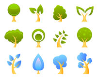 Vector de los iconos del árbol Imagen de archivo