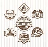 Vector de los iconos del comercio justo stock de ilustración