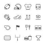 Vector de los iconos del fútbol americano Foto de archivo libre de regalías