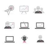 Vector de los iconos del negocio b2b Imagen de archivo libre de regalías