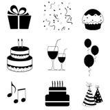 Vector de los iconos del partido Imagenes de archivo