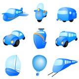 Vector de los iconos del transporte Fotografía de archivo libre de regalías