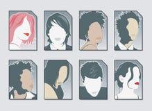 Vector de los iconos del utilizador Fotos de archivo