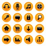 Vector de los iconos del Web imagen de archivo libre de regalías