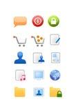 Vector de los iconos del Web y del Internet Fotos de archivo libres de regalías