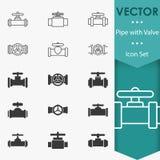 Vector de los iconos de la válvula libre illustration