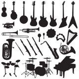 Vector de los instrumentos musicales Fotografía de archivo libre de regalías