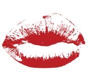 Vector de los labios del beso del Res Imagen de archivo