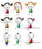 Vector de los niños Fotografía de archivo