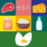 Vector de los productos lácteos Foto de archivo
