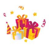 Vector de los regalos de día de fiesta Fotos de archivo